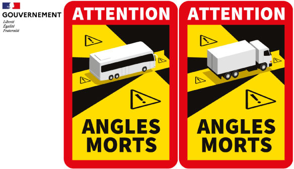 Autocollant Angles Morts Camions Autocar